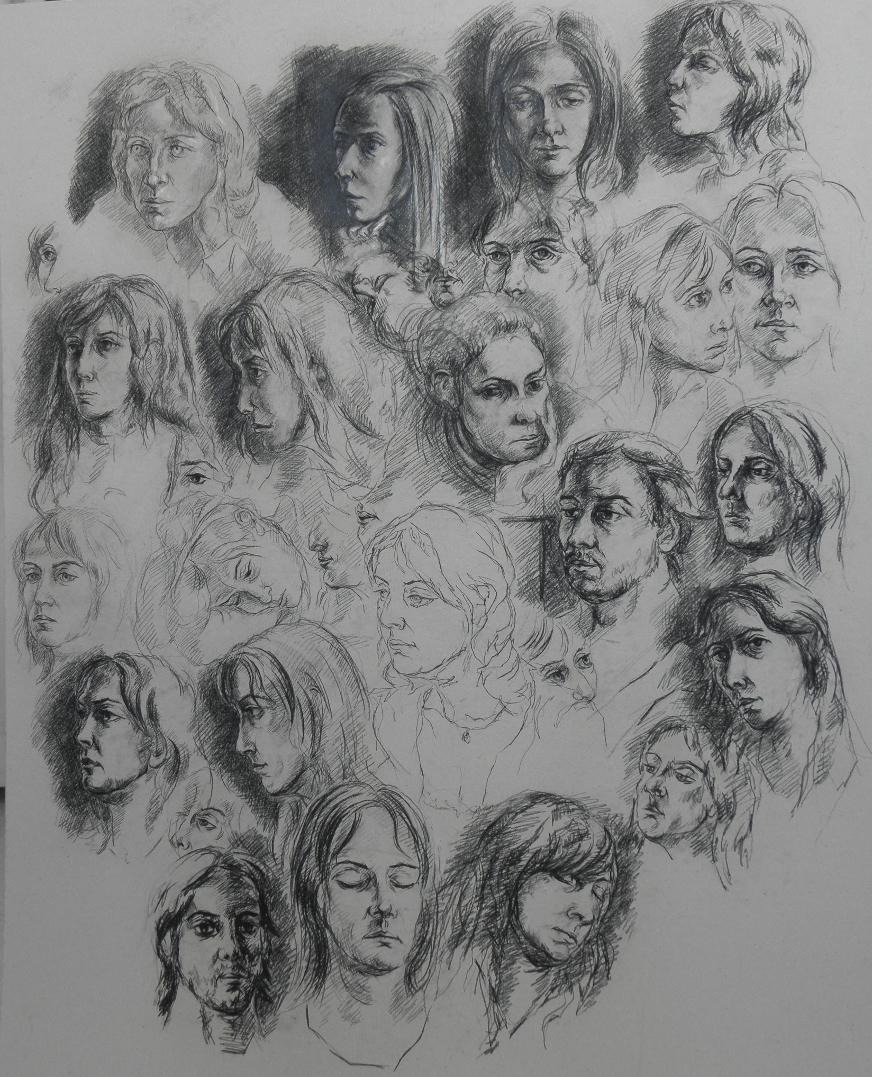 Le portrait dans l 39 art - Idee dessin peinture murale ...
